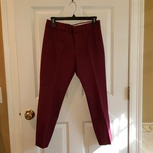 anana Republic Sloan Fit Burgundy Purple Crop Pant